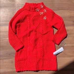 NWT Maggie and Zoe Red Sweater Dress - 24 months